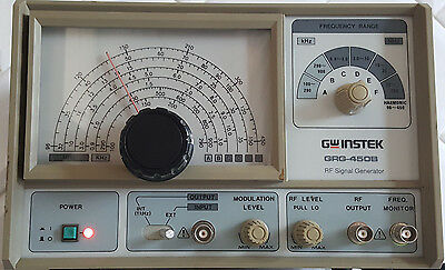 GW INSTEK RF SIGNAL GENERATOR GRG-450B Ham Radio Test Equipment Great Condition!