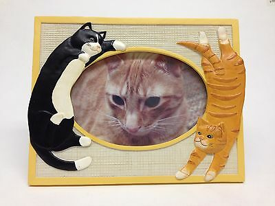 Whimsical Cats / Kittens Cast Resin Picture Frame, 8 x 6