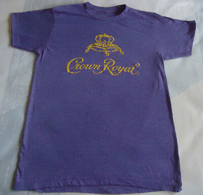 Med. Crown Royal Embellished T-Shirt,Solid Purple w/Gold Lettering On Front