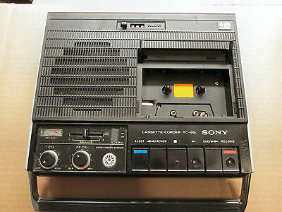 "Sony Cassette Corder TC-95L Vintage Very Rare Cassette-Recorder   Sold  ""AS IS"""