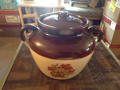 McCoy crook shaped cookie jar with grapes and leaves on it