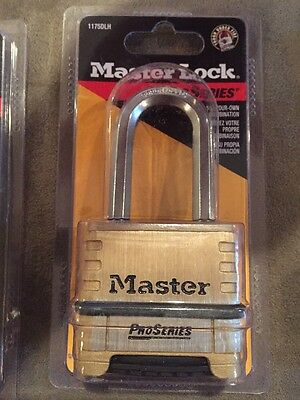 """Master Lock 1175DLH Resettable Pro Series Combination Padlock, 2-1/16"""" Shackle"""