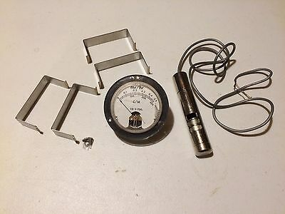 Miscellaneous CDV-700 Parts. Panel Meter, Probe Housing, Battery Clips