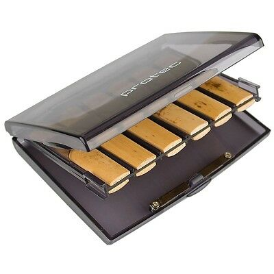 Protec Bb Clarinet Reed Case Holds  12 Reeds - Transparent Smoke