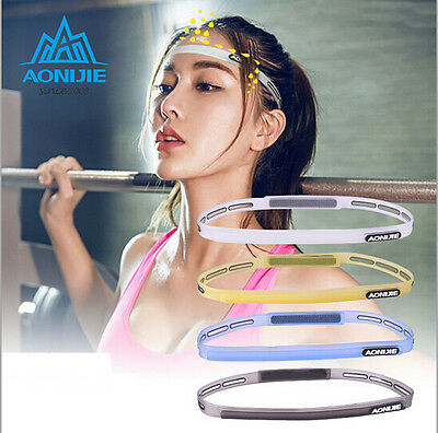 Adjustable Running Sport Sweat Control Head Band Workout Gym Silicone Sweatbands