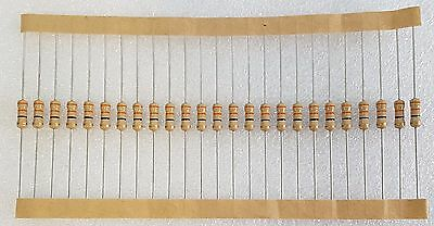 25pcs 33 Ohm (33R) 0.5W Carbon Film Resistor 5% Flameproof