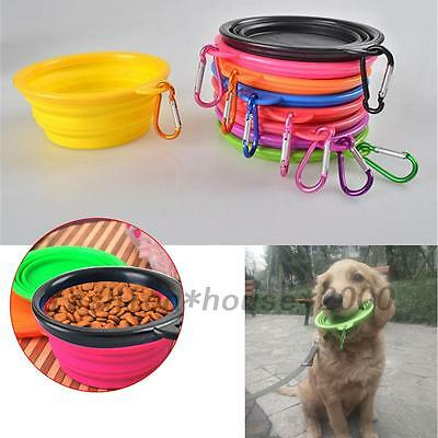 Collapsible Dog Bowl Food Grade Silicone Foldable Cup Dish Pet Cat Water Feeding