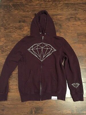 Very Good Condition Mens Diamond Zip Up Hoodie Size Small