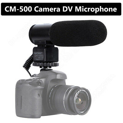 Camera Camcorder 3.5mm Mic Direction External Microphone for DSLR Canon Nikon V7