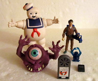 Vintage 80's Ghostbusters: Venkman, Stay Puft Marshmellow Man, Purple Ghost +