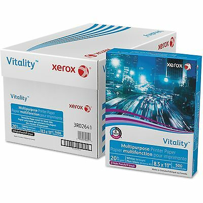 Xerox Vitality Multipurpose Paper 3-Hole Punch Letter 20lb 92-Bright 5000ct