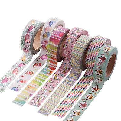 Cartoon Pattern Metallic Gold Washi Tape Scrapbook Craft Paper Adhesive Sticker