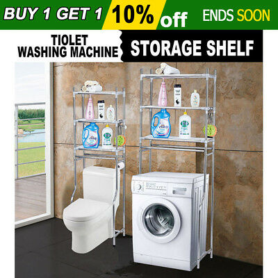 New Over Toilet/Laundry Washing Machine Bathroom Storage Rack Shelf 3 Tiers