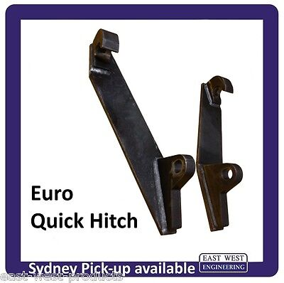 EURO QUICK HITCH WELD-ON BRACKETS, LH + RH pair for tractor loaders QEH25-03/04