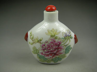 exquisite Chinese ancient  handmade painting colorful  Porcelain snuff bottle 06