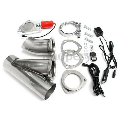 3'' Electric Exhaust E-Cut Out Motor Valve Catback Downpipe Remote Systems Kit