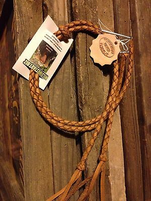 "Usa Braided Buffalo Leather 20"" Stampede Wind Strings Handmade Handbraided Tan"