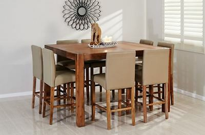 Amart Silverwood 9 piece dark chocolate dining table and chairs