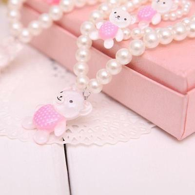 Princess Children Girls Baby Beads Necklace Bracelet Ring Set Jewellery Gift