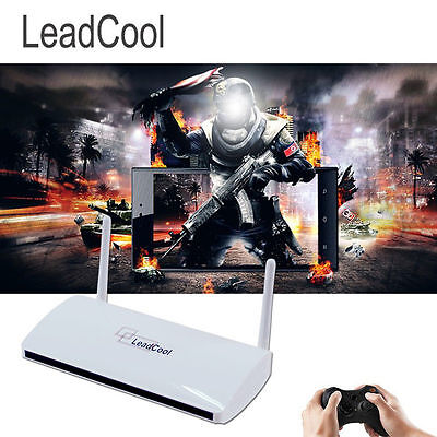 LEADCOOL TV Box Arabic IPTV STB HD Channels Quad-Core Receiver + IUDTV ONE YEAR