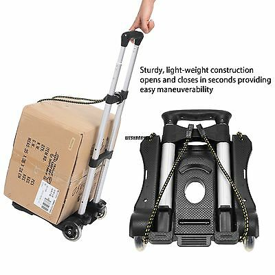 Portable Hand Truck Foldable Lightweight Dolly Utility Shopping Luggage Cart IXH