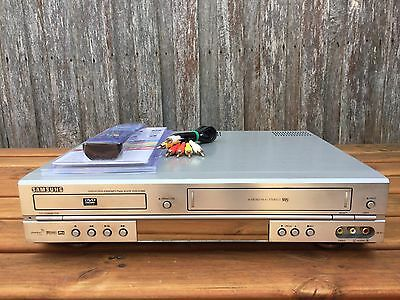 Serviced Samsung V7000 Combo VCR DVD player + Video Recorder + Remote + RCA