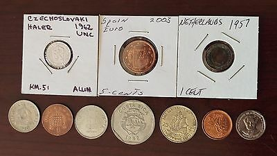 Lot of 10 Foreign Coins - Circulated