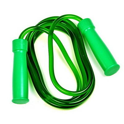 Speed Jumping Plastic Skipping Rope Crossfit Ball Bearing Handles Workout Green