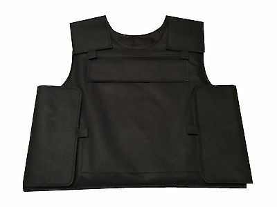 Bullet Proof Vest Level 3A Body Armour Aramid Kevlar Plate Carrier Small New
