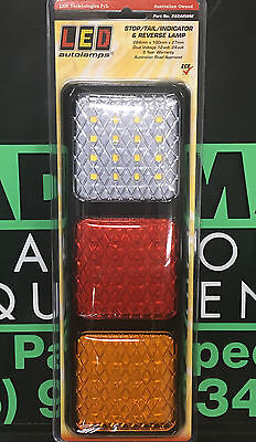 LED Autolamps 1x 282ARWM Stop/Tail/Ind/Reverse Lamp 12/24 Volt - 5 Year Warranty