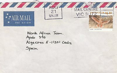 Australia Commercial Cover 1993 Solo Usage $1.20 Pink Cockatoo to Spain