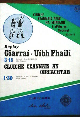Kerry V Offaly 15/10/1972 Gaa All Ireland Gaelic Football Final Replay