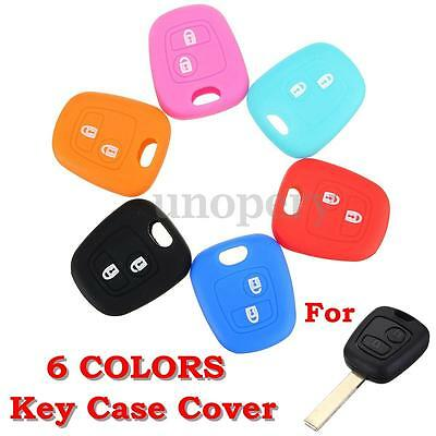2 Button Key Fob Silicone Cover Case For Peugeot 307 107 207 405 Citroen C3 C5Si