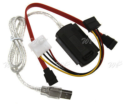 """USB2.0 TO IDE/SATA/PATA  2.5"""" 3.5"""" Hard Drive Adapter Converter Cable High-Speed"""