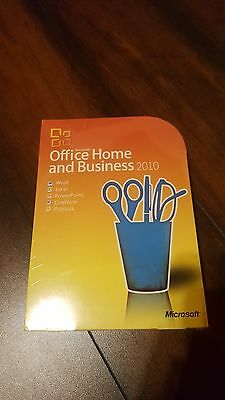 Microsoft Office Home and Business 2010, SKU T5D-00154 (SEALED RETAIL BOX)