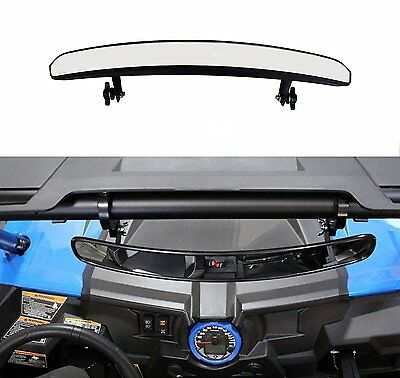 "1x Wide Rear View Mirror with 1.75"" Clamps for Polaris RZR 800 1000 XP900 1000S"