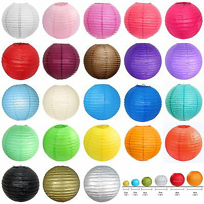 """Multicolor Chinese paper Lanterns Wedding Party Decoration 4""""8""""10""""12""""14""""16""""20"""""""