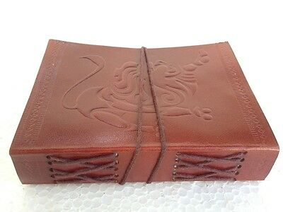 Handmade Leather Journal Plain Brown Diary Leather Sketchbook Notebook
