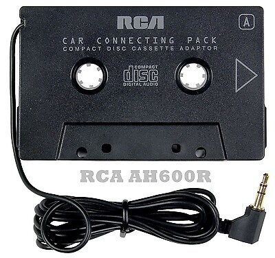 RCA AH600R Cassette Adapter for iPhone,Smartphone,MP3 Audio to Car Stereo Deck
