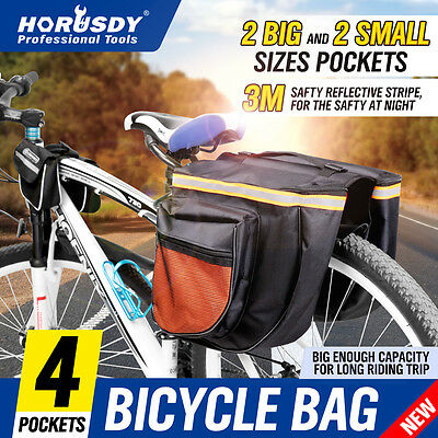 Cycling Bike Bicycle Pannier  Rear Rack Bag Waterproof Outdoor Sport Carrier New