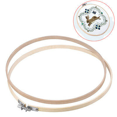 12inch Bamboo Circle Embroidery Cross Stitch Hoop Ring