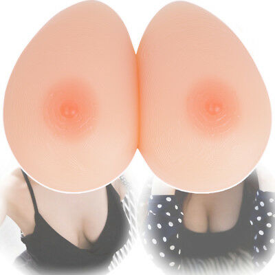 Women False Silicone Breast Forms Full Boobs TV Crossdresser Enhancer Fake Boob