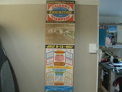 rare vintage Calgary exhibition stampede 'the greatest show on earth'poster 1957