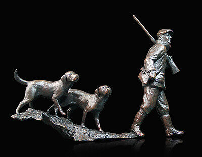 'In The Field' Bronze Sculpture By Michael Simpson Ltd Edition Richard Cooper