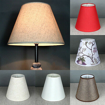 Cotton Textured Fabric Drum Shade Table Ceiling Lampshade Light Cover Anti-fire