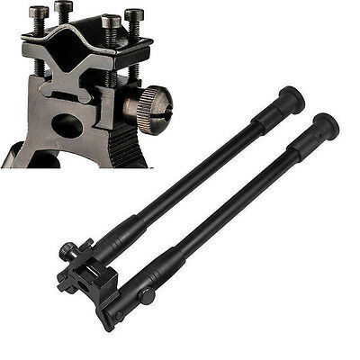 """Adjustable Tactical Hunting 6"""" to 9"""" Spring Swivel Bipod Stand Mount for Rifle"""