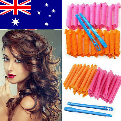 30/45/55cm DIY Magic Hair Curler Leverage Curlers Formers Spiral Styling Rollers