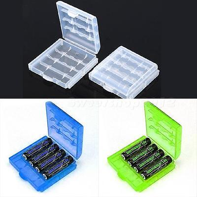 6 Pcs Hard Plastic Blue/Green/White Holder AA/AAA Battery Storage Box Case SWTG