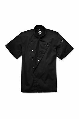 ChefWorks Black Press Stud Chefs Jacket Restaurant Hotel Cafe