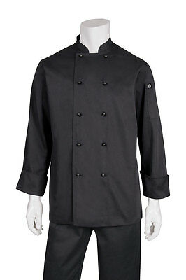 Chef Works Chefs Jacket Black Long Sleeve